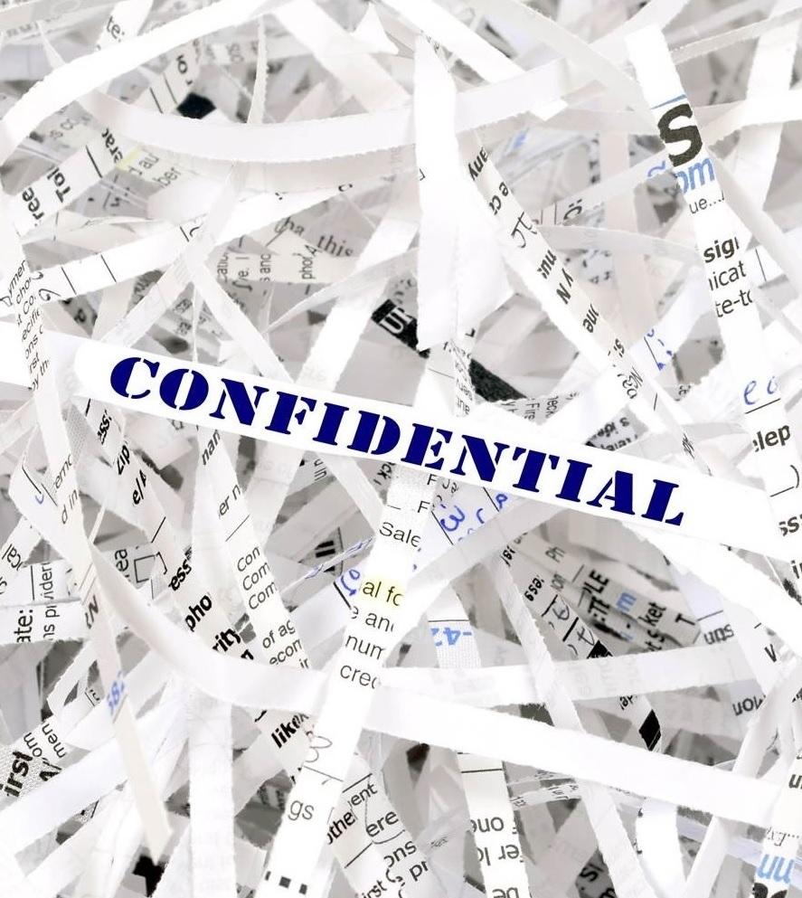 Uw papieren documenten worden op een professionele manier definitief vernietigd.